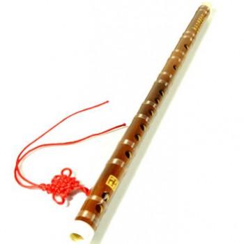 悟音苦竹一节两节学习笛子初学F调竹笛G调梆笛可选乐器 一节G调(送配件)+书本教材