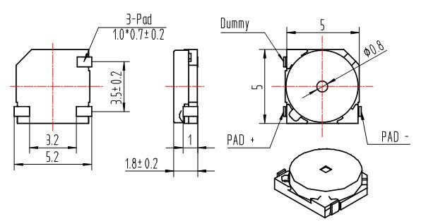 电磁无源贴片式蜂鸣器bm5018stz讯响器