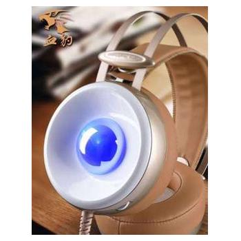 耳机头戴式金属发光降噪耳机电脑耳麦