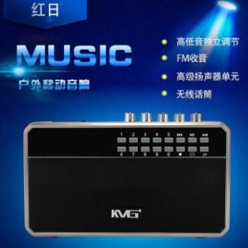 特美声红日A4-9便携式插卡蓝牙收音扩音广场舞音箱录音扩音器批发
