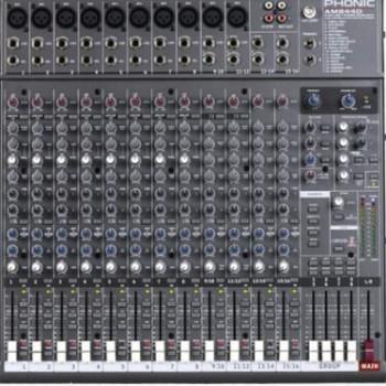 美国(PHONIC)丰力克AM844D 广电演出专用 16路专业调音台