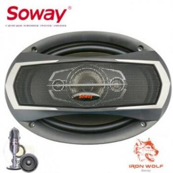 汽车扬声器 soway国际品牌 6X9同轴喇叭 TS-6975 大功率 高音