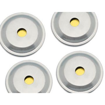 厂家直销12mm蜂鸣片加铝壳 压电陶瓷蜂鸣片 蜂鸣片焊线