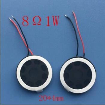 8Ω1W 1瓦 8欧圆形喇叭小型喇叭/扬声器φ20mm直径手机喇叭