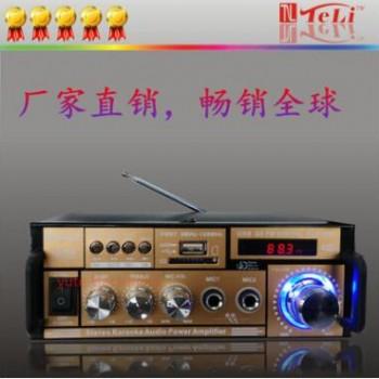 新款004数字功放机 带数字显示屏可遥控读卡小功放