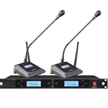 一拖二U段无线话筒 专业KTV无线麦克风家用卡拉ok舞台 会议话筒