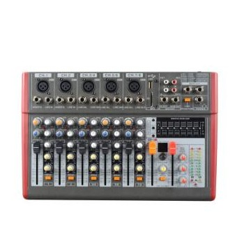 8路专业调音台 商铺演出舞台支持usb播放带均衡效果一体机批发