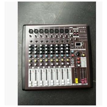 专业8路调音台小型舞台U盘录音MP3网络K歌手机直播