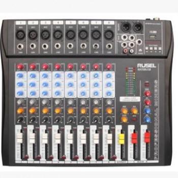 RUSEL乐声 RAT08USB 调音台(8路,带USB)