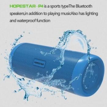 新款HOPESTAR-P4防水蓝牙音箱户外 FM 带灯骑行充电宝便携音响