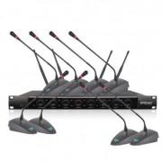 X-8600 无线麦克风 VHF一拖八无线话筒 舞台演出KTV话筒 足人声