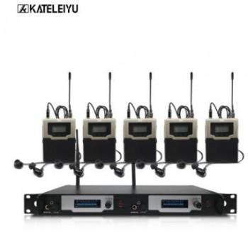 一拖四入耳式双通道发射无线监听系统舞台返听8500 无限拖