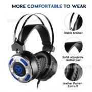 头戴式耳机有线 电脑游戏耳机头戴 有线耳机双动圈发光