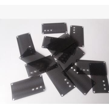 厂家定制黑色PVC音响喇叭网 耳机防尘网 电脑机箱喇叭网 环保