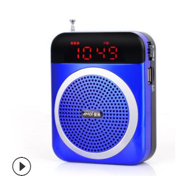 Amoi/夏新V88便携老人随身听音箱播放器插卡音响mp3外放收音机