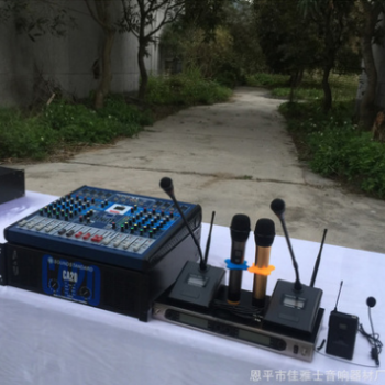 厂家直销专业无线麦克风会议领夹舞台演出KTV课室演讲UHF红外线调