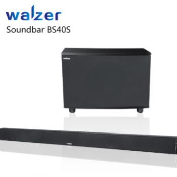 walzer BS40S电视客厅条形音响回音壁 家庭影院无线蓝牙wifi音箱