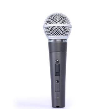 SHURE/舒尔 SM58S人声有线话筒演出家用动圈录音棚抖音直播麦克风