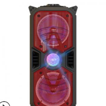 厂家批发便携蓝牙音箱炫灯效果震感音效广场舞K歌户外拉杆音响