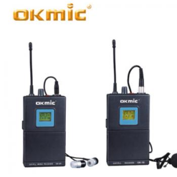 专业无线采访麦克风 腰包发射监听单声道 无线领夹话筒 活动演出