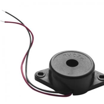 厂家批量供应 有源压电式蜂鸣器 SMF-27独孔蜂鸣器 带耳蜂鸣器