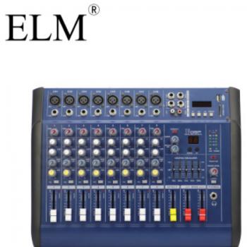 ELM 8路蓝牙带功放调音台 效果调音台 婚庆舞台演出 八路调音台