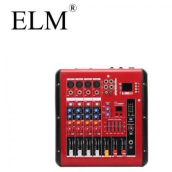 ELM 4路蓝牙带功放调音台 DSP效果调音台 48V幻象电源演出调音台