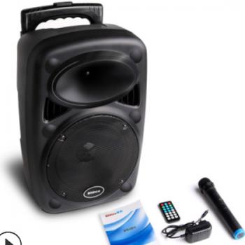 新科X8 广场舞音响移动拉杆音箱户外播放器带无线话筒k歌便携式