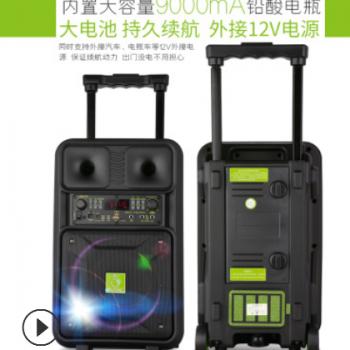 批发SOK户外拉杆音箱NE-803广场舞音响便携式带话筒电瓶音箱工厂