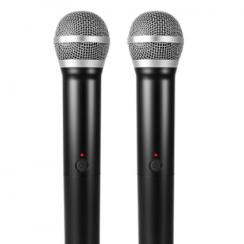 电视电脑K歌话筒USB一拖二U段无线麦克风家庭卡拉OK天籁K歌麦