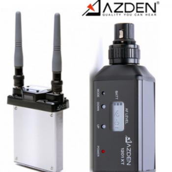 日本AZDEN阿兹丹 1201SIX 内嵌式无线话筒 肩扛摄像机录音专用
