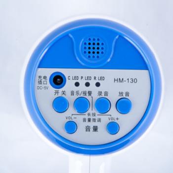 鸣乐HM-130 锂电喊话器手持扩音喇叭150秒录音大声公