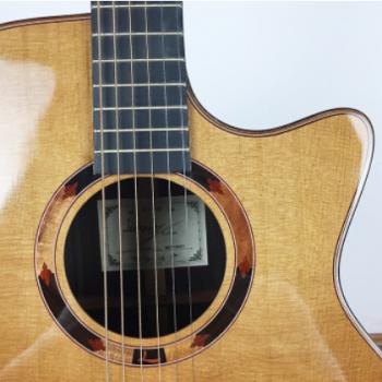 丽星41寸JF桶型红松玫瑰木面单板高端民谣吉他批发一件代发招分销