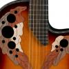 黄家驹41寸葡萄孔电箱款单板民谣初学个性木吉他酒吧驻唱支持贴牌