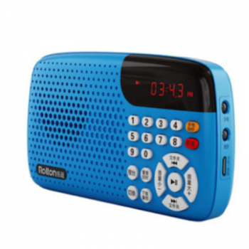 Rolton/乐廷 W105便携式插卡迷你小音响收音机便携式晨练听戏机