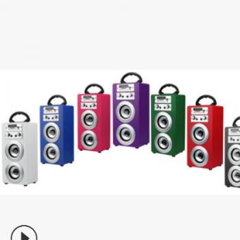 蓝牙音箱ITK便携式晨练户外广场舞手提夜市地摊广告插卡音响K8