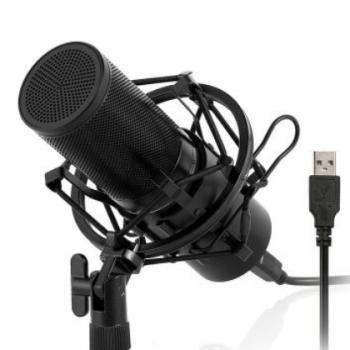 新品Q9录音室电容式麦克风USB 带支架直播话筒 厂家直销