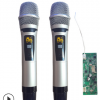 T-U001 带显示屏双U段高品质无线咪无线麦克风带接收板