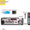 跨境专供金特kinter-004A AC220V/DC12V家用户外功放带USB/SD/FM