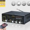 跨境专供kinter T1 AC90-220V/DC12V 蓝牙家用功放机带收音话筒