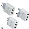 5.1A手机充电器 QC3.0 4USB多口快速充电头 欧规美规英规充电器