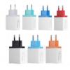 2.1A手机充电器 QC3.0 3USB多口快速充电头 欧规美规彩色充电头