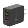 3A手机充电器 qc3.0 3USB充电头 欧规美规英规多功能快速充电头