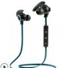 新款小牛角运动蓝牙耳机面条线双耳塞立体声4.1挂耳双色音乐通话