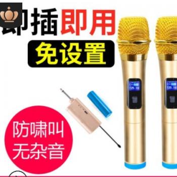 万能无线话筒一拖二户外唱K歌舞台音响通用家用6.5音响专用麦克风
