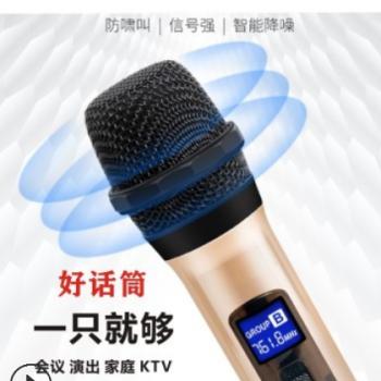 无线话筒一拖二家用唱歌户外KTV舞台音响通用麦克风6.5手持专用