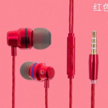 跨境专供金属入耳式耳机手机电脑通用线音乐耳机可定制厂家直销