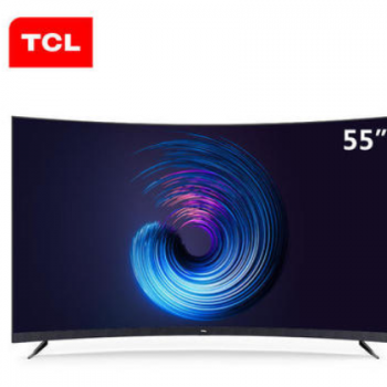 TCL曲面电视机 55T3M 55英寸4K超薄全面屏高清人工智能网络
