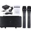 VHF蓝牙无线麦克风 带功放 2支手持麦克风 可蓝牙连接手机播放