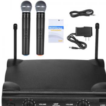 无线麦克风 U段 两支手持话筒套装 KTV家用无线话筒